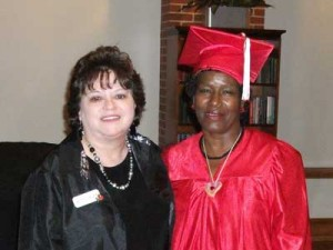 Betty and Marie after Class 15 graduation