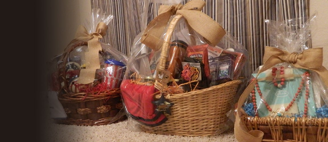 Baskets ready for auction