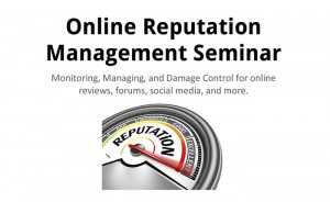 Online Reputation Management Seminar – December 11