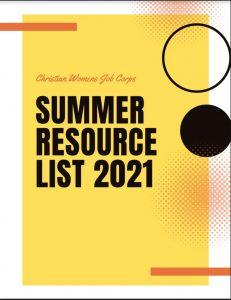 CWJC 2021 Summer Resource List